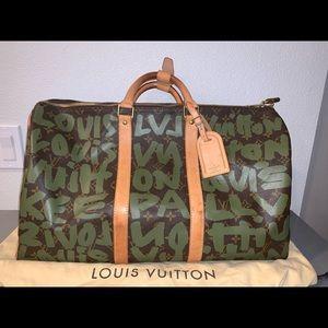 Authentic Louis Vuitton graffiti keepall 50 duffle